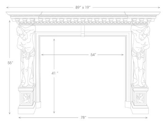 Hercules Mantel Illustration Diagram