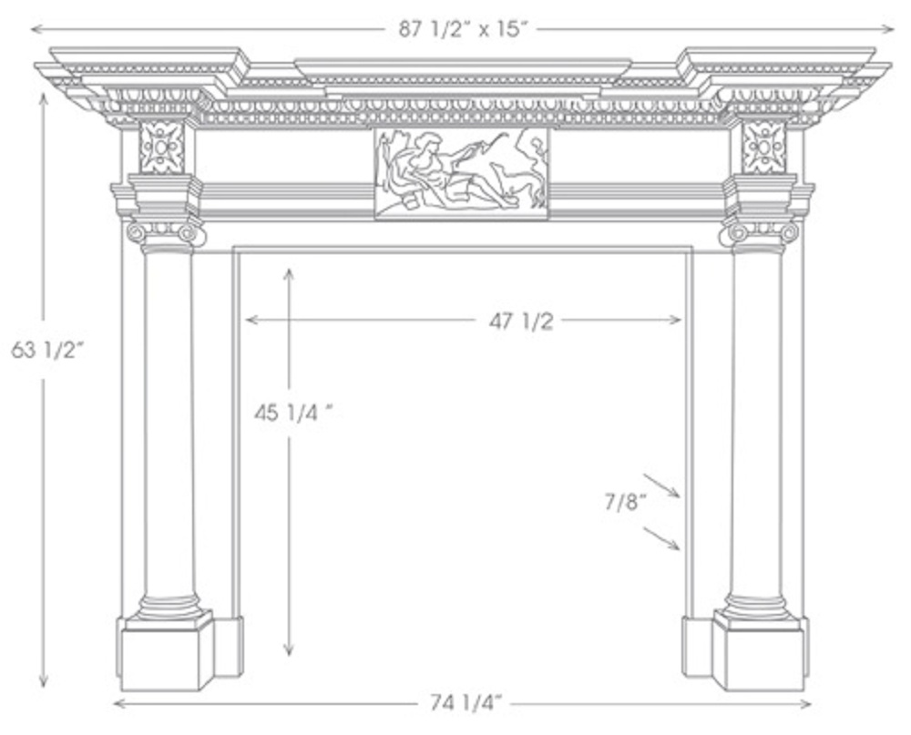 The St James Mantel with English Styling