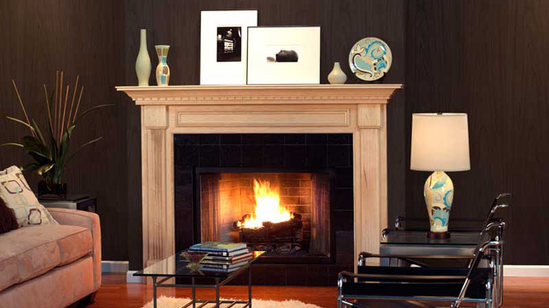 Custom Wood Fireplace Mantels