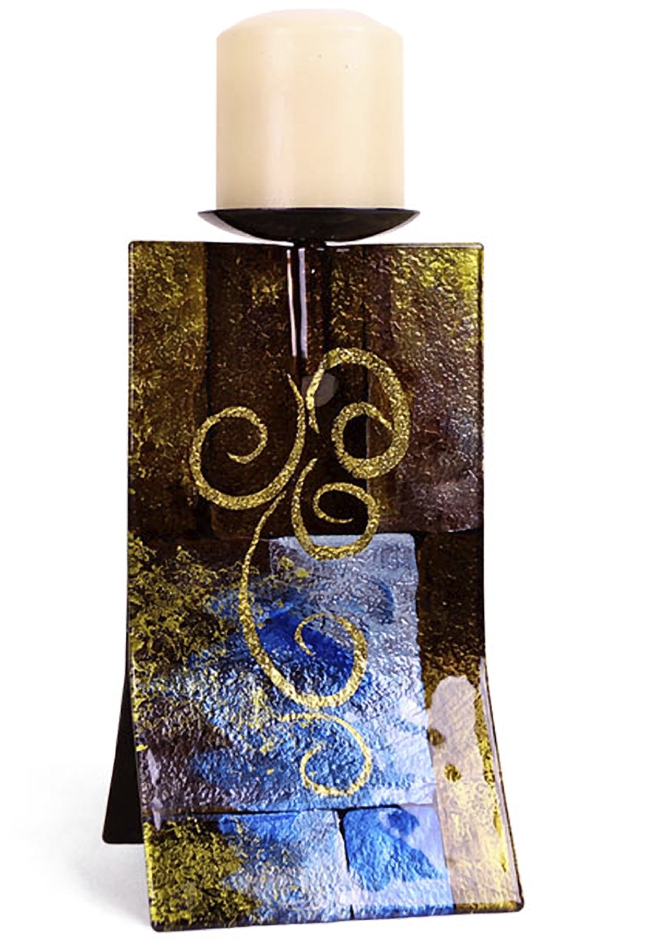 Fused Glass Candleholders | Contemporary