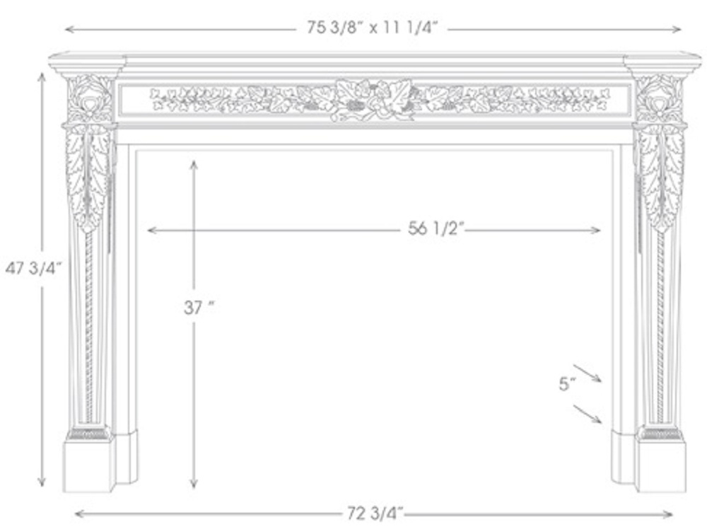 The Auguste Mantel has Louis XVI Style