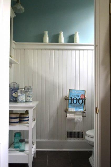 2-inch White Beadboard | Casual Bathroom