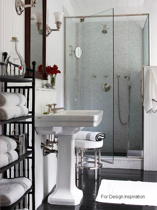 Master bath with Beaded Birch Paneling