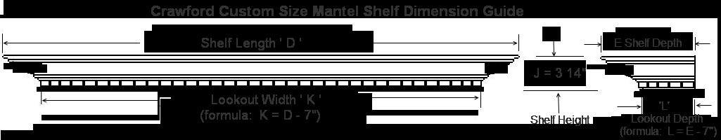 Mantel Shelf Specification Guide - Crawford Custom