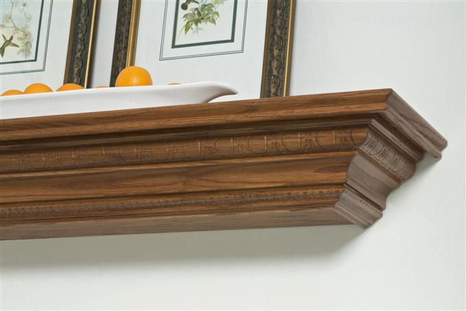 Hillview Wood Mantel Shelf in Oak