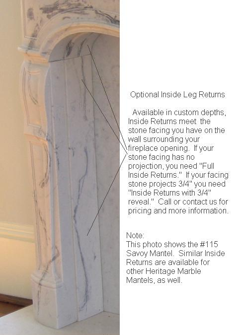 "3/4"" Inside Leg Return 