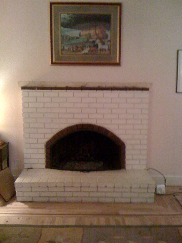 Brick Fireplace Before Remodeling
