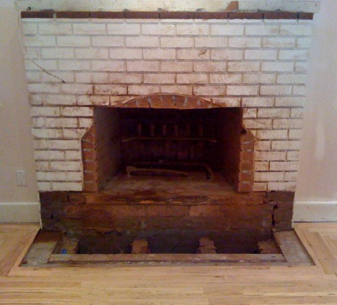 Fireplace During Major Remodeling Project
