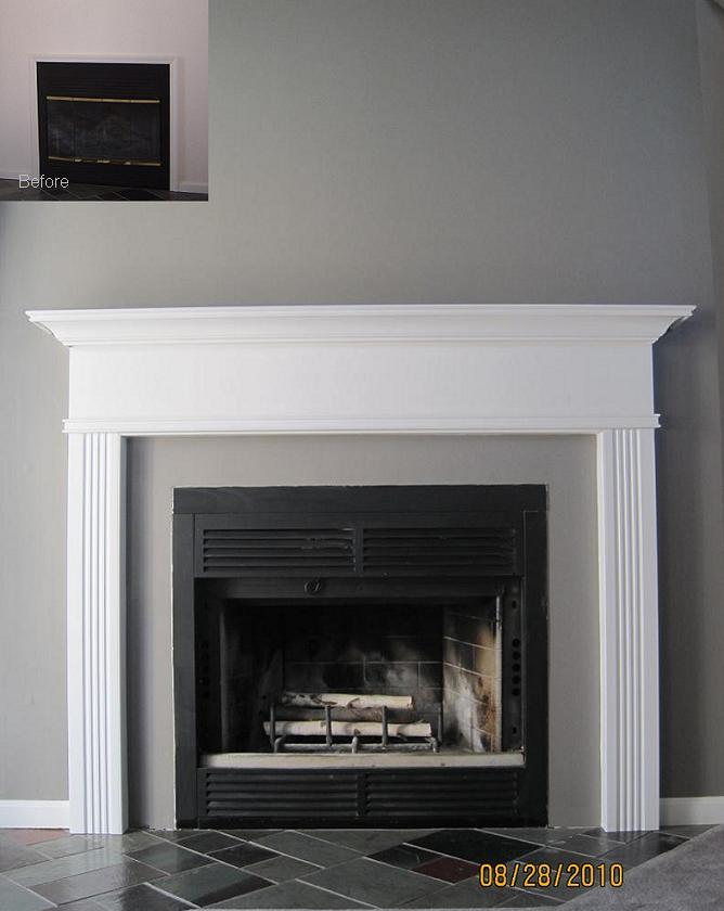 Killen Mantel Painted White | Before and After