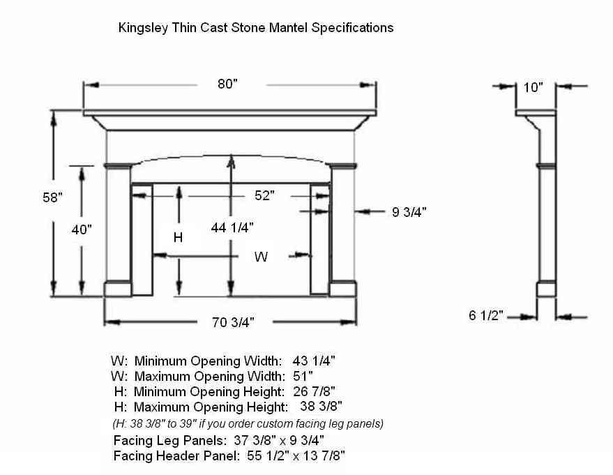 Kinglsey stone mantel