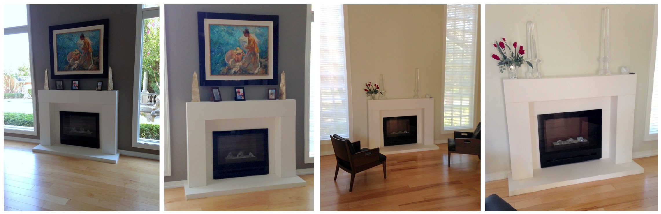 Marble Mantel with Electric Fireplace