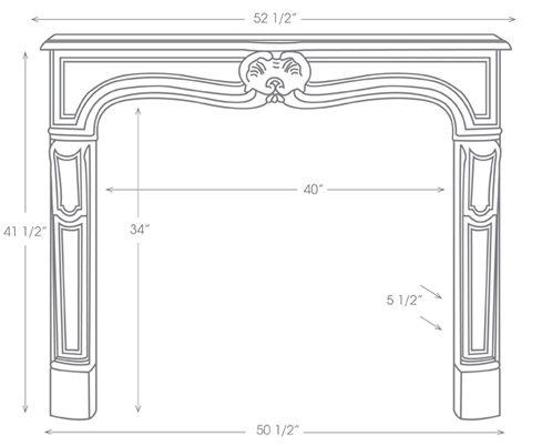 Provence Mantel Illustration Diagram