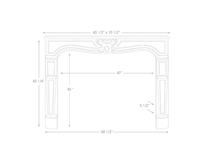 Savoy Mantel Illustration Diagram
