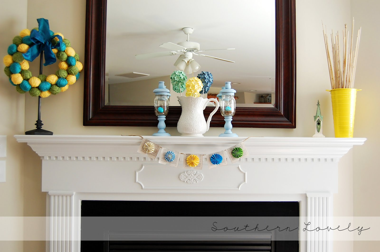 Spring Decorating Ideas for your Fireplace Mantel Shelf ...