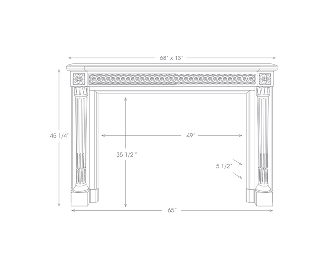 Versailles Mantel Illustration Diagram