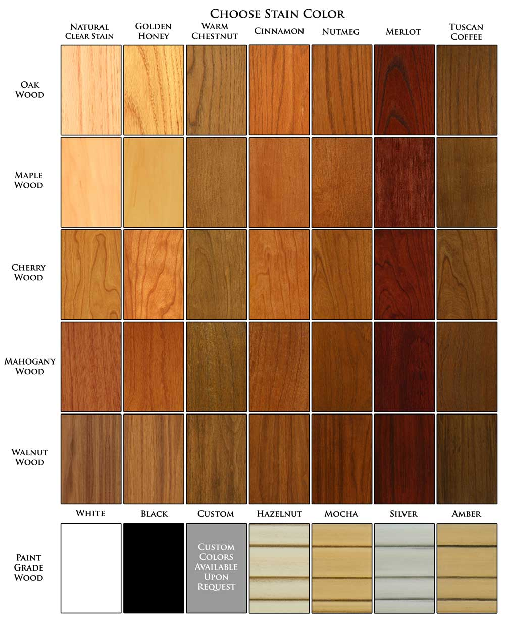 Fireplace Mantel Wood and Finish Colors