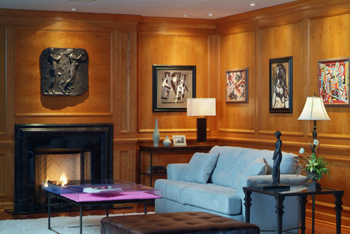 The 108 Bolection marble mantel surround compliments a formal room design