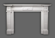The Federal Marble Mantel, in Italian Bianco