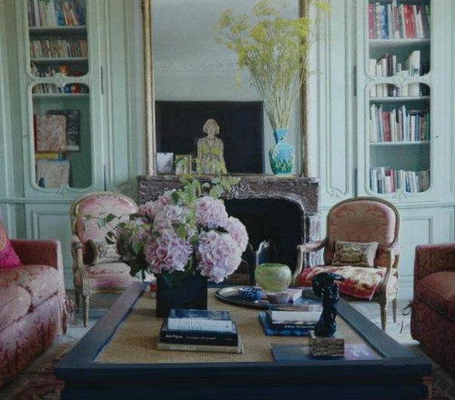 Louis VIV design inspiration styling in a rouge royale marble mantel