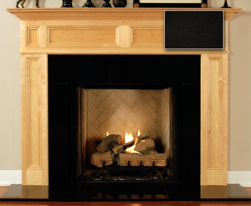 Fireplace Surround Facing   Absolute Black Granite