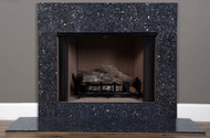 Installed picture of the Blue Pearl granite facing.
