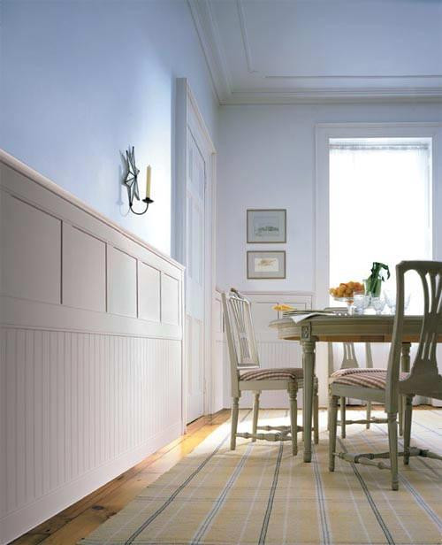Dining Rooms With Wainscoting: Two-tiered Wainscot Panels