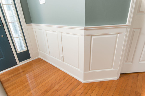 Classic Traditional Raised panels painted white