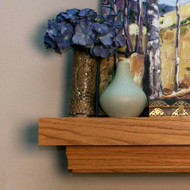 The Huntington fireplace mantel shelf features clean lines