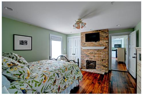White Manassas mantel shelf featured in a bedroom renovation