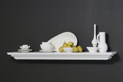 The Monnrovia mantel shelf is offered with or without corbel brackets