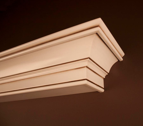 Stevenson Mantel Shelf in Hazelnut Finish - Corner Detail