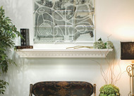 Use the Vincent Shelf above a fireplace or anywhere else in your home