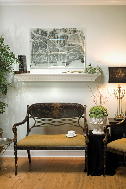Dentil molding is included with the Vincent Mantel Shelf
