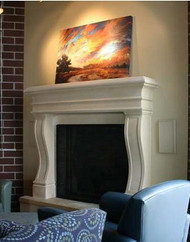 Traditional or contemporary stone mantel