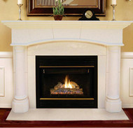 Barrington Arch Cast Stone Mantel.  Buff Sandstone finish