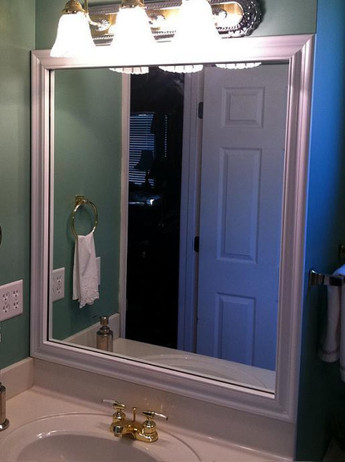 Bathroom Mirror Frames Bathroom Mirror Crown Molding