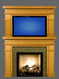 Contact us is you have interest in an overmantel, which is actually just a second mantel sized to fit on top of the lower mantel, and sized to frame your mirror, artwork or television.  The price would be that of two mantels.