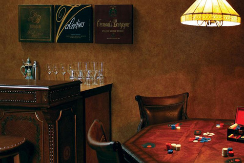 Leather Pattern Wall Panels used in game room