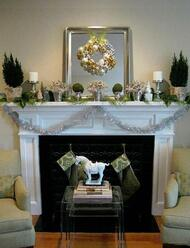 This photo is offered for design inspiration.  Achieve this great look with our Compton Fireplace Mantel