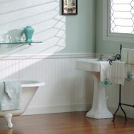 "2"" Beaded Birch wainscoting, painted white"