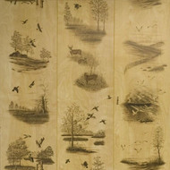 Nature's Woods - water fowl, duck and deer paneling theme