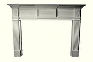 Sunburst Applique Traditional Fireplace Mantel - Cast Plaster