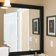 Grant Bathroom Mirror Frame, in black