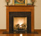 A traditional fireplace mantel - good for tight spaces