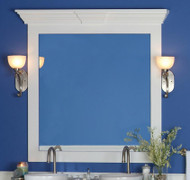 Belmont Mirror Frame with accessory Piedmont Cap in White