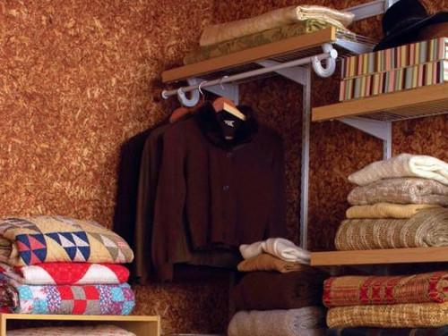 Line Master Bedroom Closets with Cedar Safe flakeboard paneling