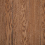 River Oak Paneling, with random width planks separated by a groove. Medium Brown veins