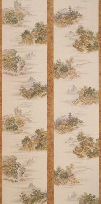 Oriental Themed wallpaper-like plywood paneling in 4x8 sheets as shown here