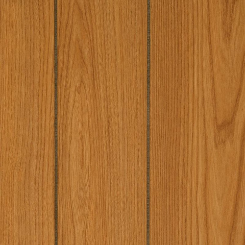Amber Oak Paneling with random width planks separated by grooves