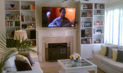 A customer submitted photo of their fireplace and room remodeling project